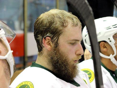 """Liam Webster vom australischen Team mit """"Playoff Bart"""" - © by Eishockey-Magazin (DR)"""