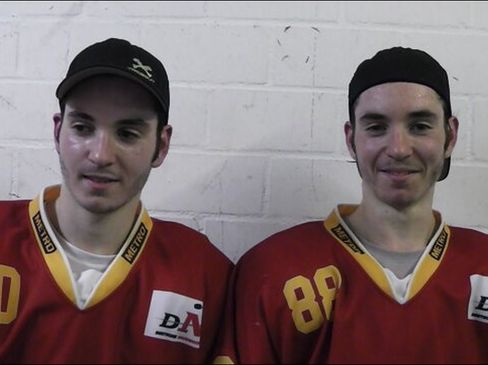 Tobias und Tim Brazda  - © by Eishockey-Magazin (DR)