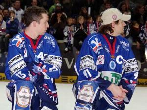 Kehren ins Sauerland zurück: Michael Wolf (links) und Robert Hock - © by Eishockey-Magazin (JB)