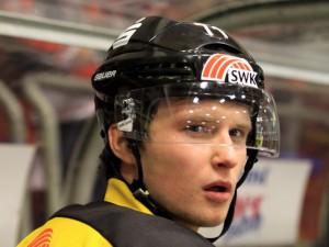 Artem Klein im Oberligatrikot des KEV - © by Eishockey-Magazin (DR)