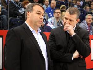Sportmanager Stephane Richer (links) und Trainer Serge Aubin - © by Eishockey-Magazin (RH)
