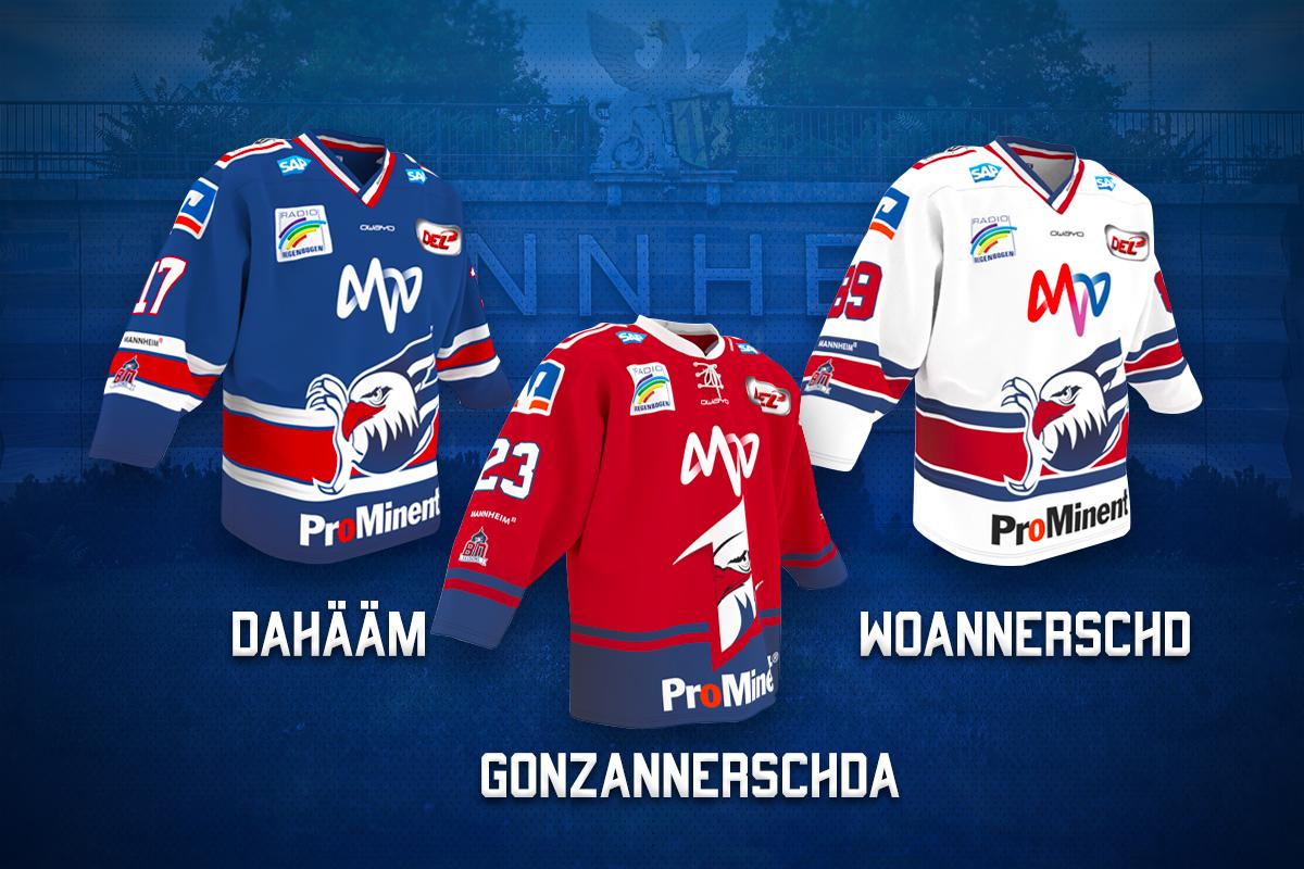 Adler Mannheim präsentieren neue Trikots - Eishockey-Magazin
