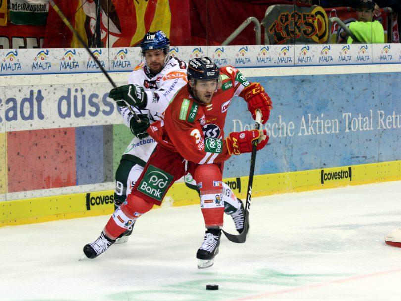 Andrew Leblanc (AEV) - Stephan Daschner (DEG) © by Sportstimme.de (DR)