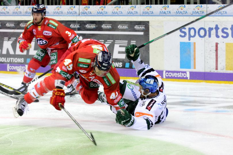 Flugeinlage: Alexandre Picard (DEG) - Thomas Holzmann (AEV) © by Sportstimme.de (DR)