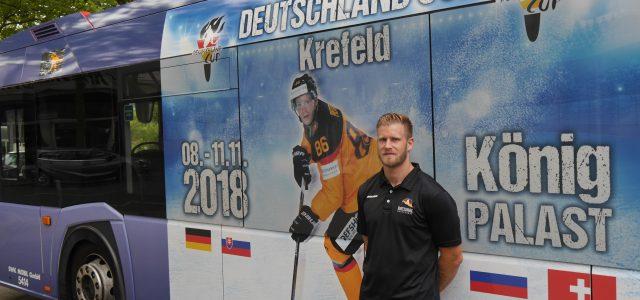 Rollende Werbung für den Deutschland Cup