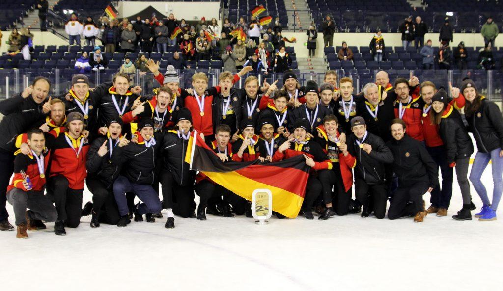 Deutschland gewinnt U20 WM Div. IA in Füssen - © by EH-Mag. (DR)