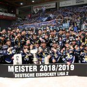 Die Ravensburg Towerstars sind Meister der Saison 2018/2019