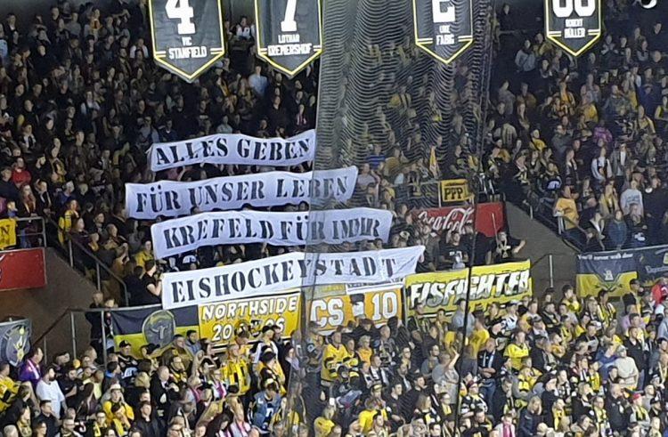 Wesslau hält den Sieg der Haie fest – Krefelds Fans mit überragendem Statement
