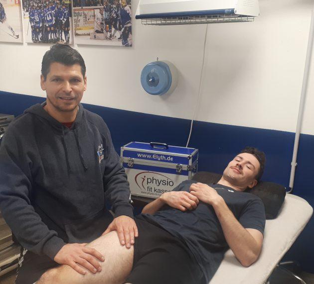 Gesundheit ist das Wichtigste: Die Physiotherapeuten der Kassel Huskies im Einsatz für die Spieler
