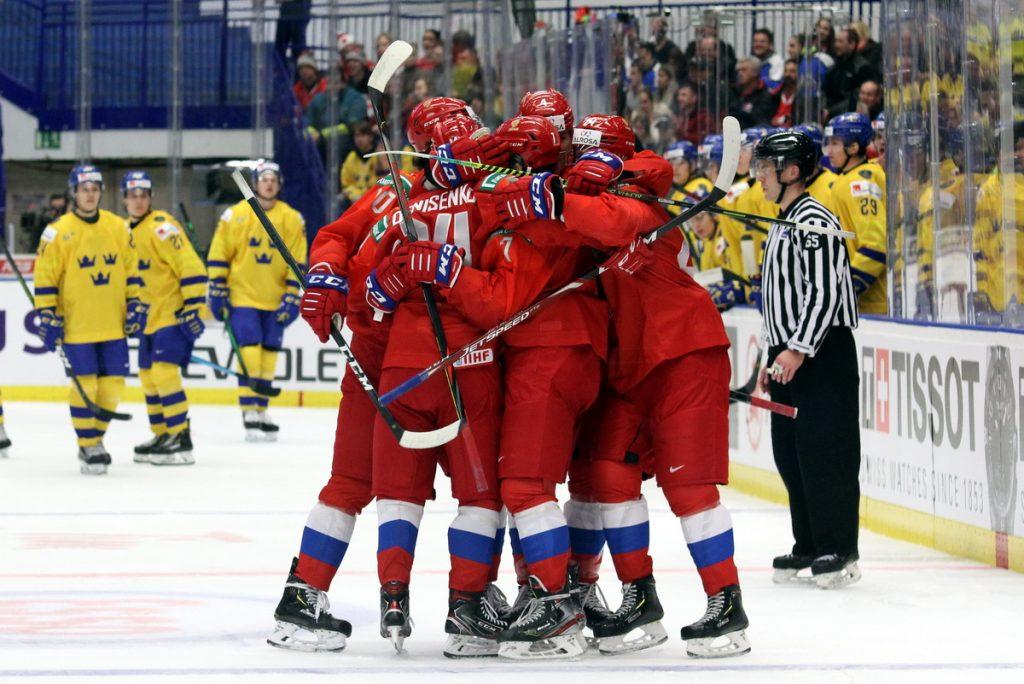 Russland bejubelt einen Treffer gegen Schweden - © by Eh.-Mag. (DR)