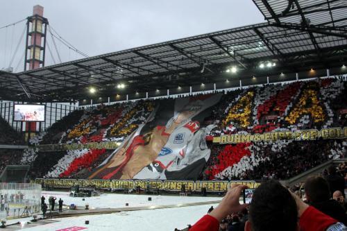 Choreo der Kölner Fans